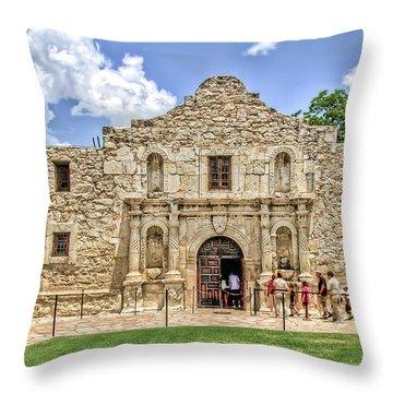 The Alamo, San Antonio Texas Throw Pillow