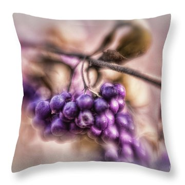 The American Beautyberry Throw Pillow