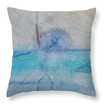Throw Pillow featuring the painting The Angels Above Us by Kim Nelson