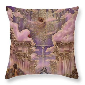The Angels Palace Throw Pillow