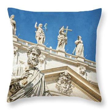 The Apostle Peter Vatican City Throw Pillow