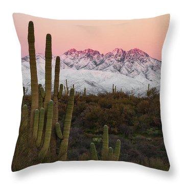 The Arizona Alps Throw Pillow
