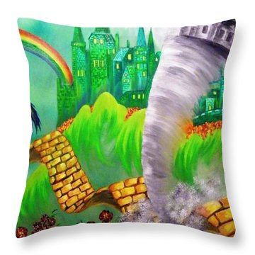 The Arrival Revisited Throw Pillow