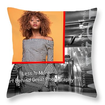 The Art Behind Great Photography Throw Pillow