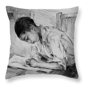 Throw Pillow featuring the photograph The Artist by Pennie McCracken