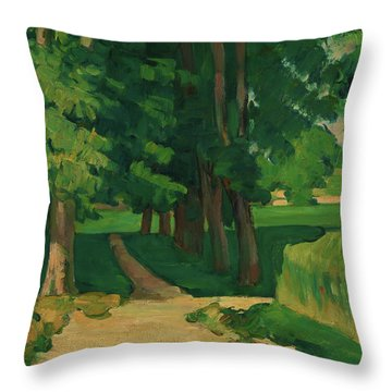 The Avenue At The Jas De Bouffan - Digital Remastered Edition Throw Pillow