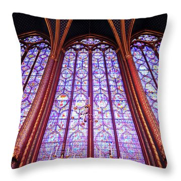 The Awe Of Sainte Chappelle Throw Pillow