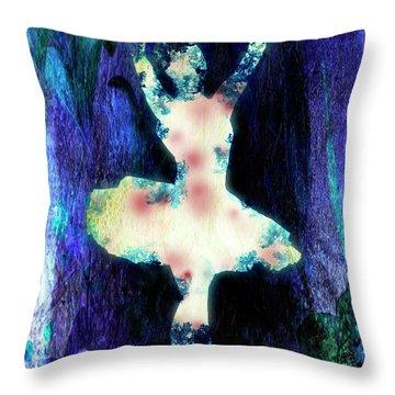 The Ballet Dancer Throw Pillow