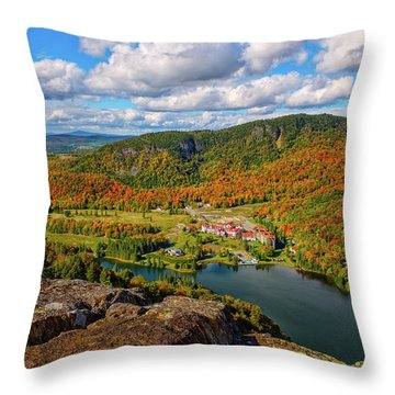 The Balsams Resort Autumn. Throw Pillow