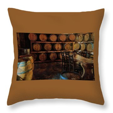 Throw Pillow featuring the photograph The Barrel Room by Thom Zehrfeld