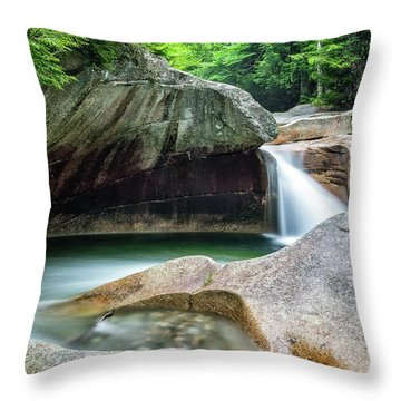 Throw Pillow featuring the photograph The Basin, Springtime Nh by Michael Hubley