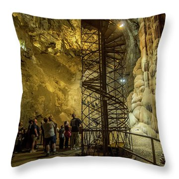 The Bat Cave Throw Pillow