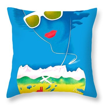 The Bavarian Alps Throw Pillow