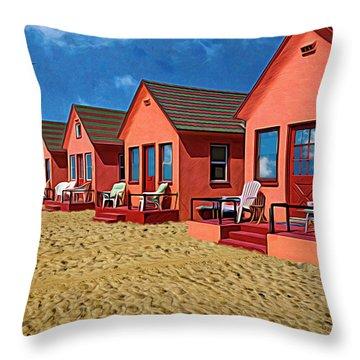 The Beach Throw Pillow