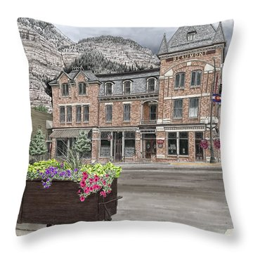 The Beaumont Hotel Throw Pillow
