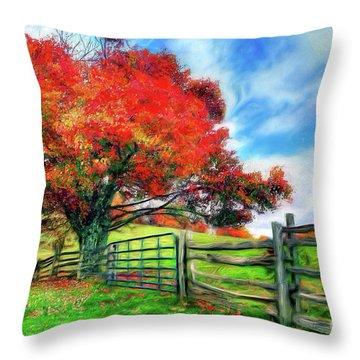 The Beauty Of A Blue Ridge Autumnl Ap Throw Pillow