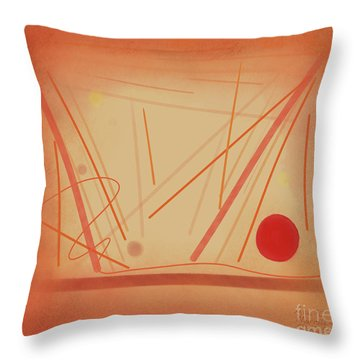 The Beginning Music Student Throw Pillow