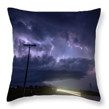 The Best Supercell Of The Summer 043 Throw Pillow