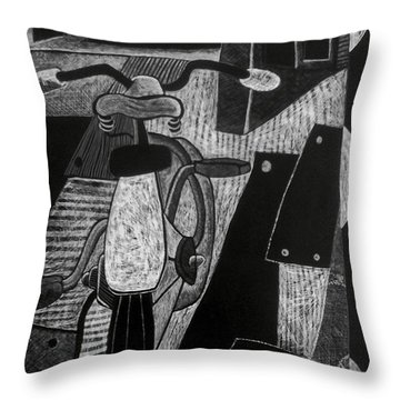 The Bicycle. Throw Pillow