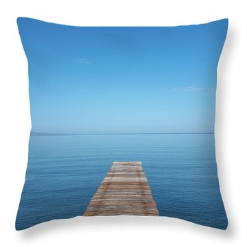 The Big Deep Blue Throw Pillow
