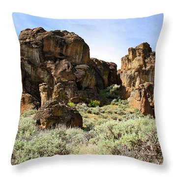 Arches Hoodoos And Castles The Big Picture Little City Of Rocks Throw Pillow