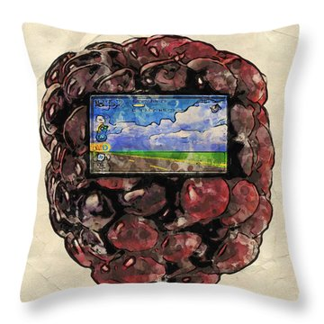 Throw Pillow featuring the digital art The Blackberry Concept by ISAW Company
