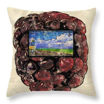 The Blackberry Concept Throw Pillow