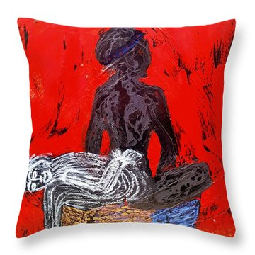 The Blood Hot Fantasy Throw Pillow