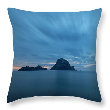 The Blue Hour In Es Vedra, Ibiza Throw Pillow