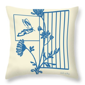 Throw Pillow featuring the painting The Blue Kiss by Belinda Landtroop