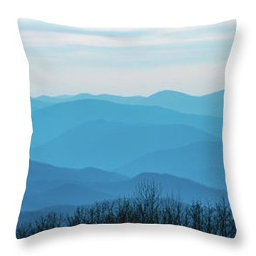 Throw Pillow featuring the photograph The Blue Ridge Mountains by Mark Duehmig