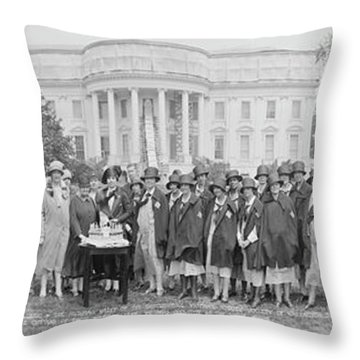 The Board Of Managers & The Nursing Throw Pillow