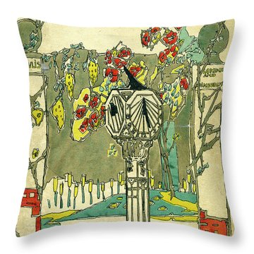 Cover Design For The Book Of Old Sundials Throw Pillow