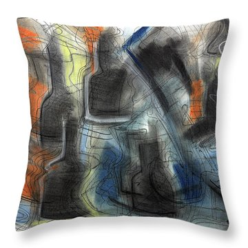 The Bottle Attacks Throw Pillow