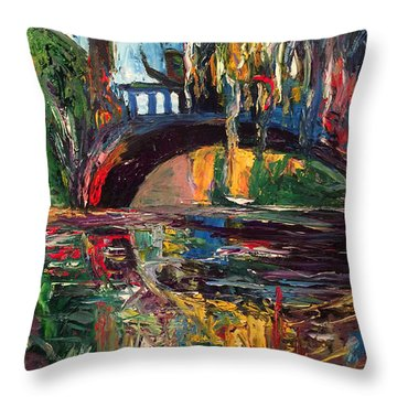 The Bridge At City Park New Orleans Throw Pillow