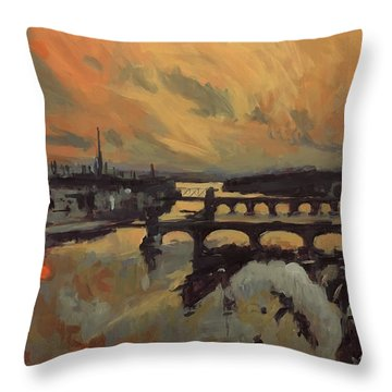 The Bridges Of Maastricht Throw Pillow