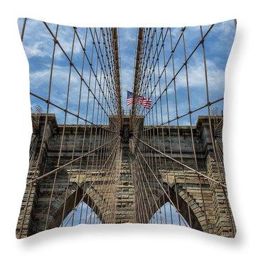 The Brooklyn Bridge Throw Pillow