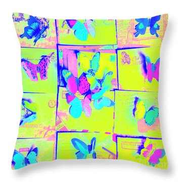 The Butterfly Courier Throw Pillow