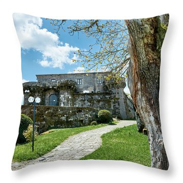 The Castle Of Villamarin Throw Pillow