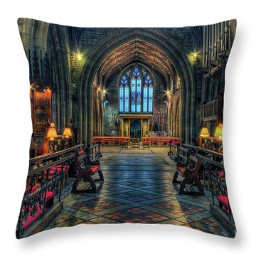 The Cathedral Church Of Saints Asaph And Cyndeym Throw Pillow
