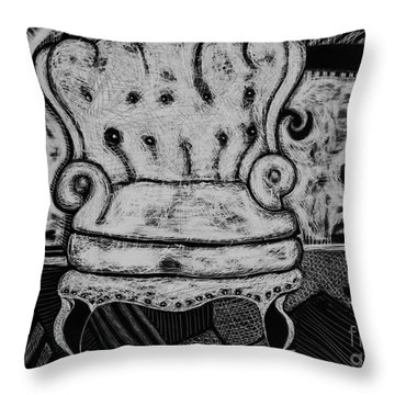 The Chair. Throw Pillow
