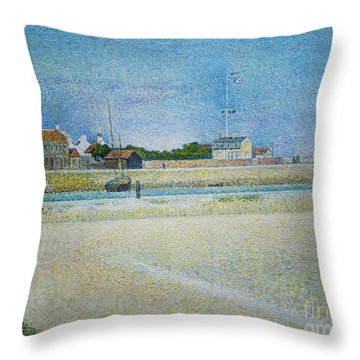The Channel Of Gravelines Grand Fort Philippe Throw Pillow