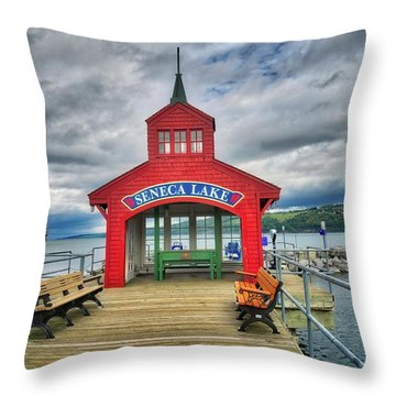Throw Pillow featuring the photograph The Charm Of Seneca Lake - Finger Lakes, New York by Lynn Bauer