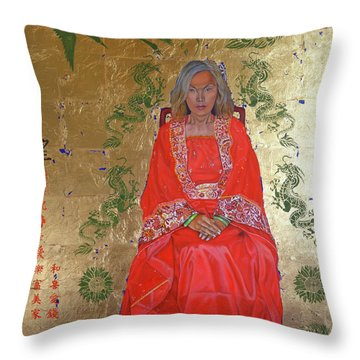 The Chinese Empress Throw Pillow