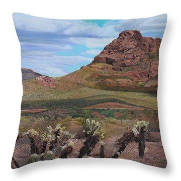 The Cholla At Mount Mcdowell, Arizona Throw Pillow