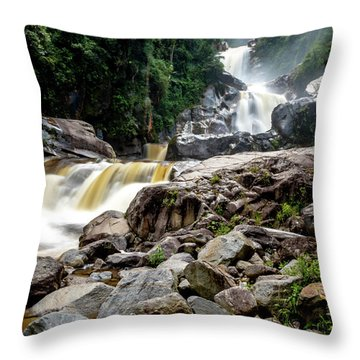 Throw Pillow featuring the photograph The Chorros by Francisco Gomez