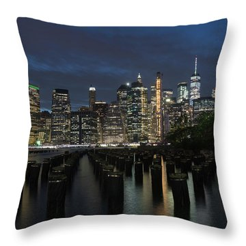 The City Alight Throw Pillow