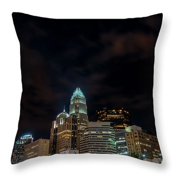 The City Lights Up Throw Pillow