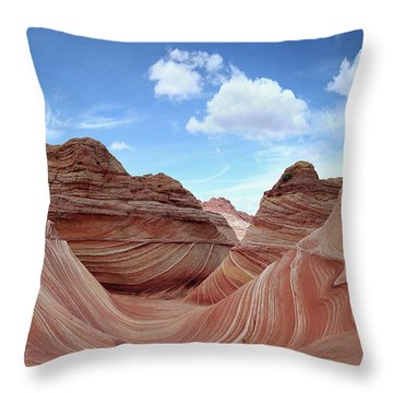 The Classic Wave Throw Pillow