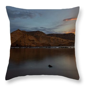 The Closed Cove In Aguilas At Sunset, Murcia Throw Pillow